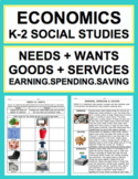 Economics K-2 Unit: Needs, Wants, Goods, Services, Spendin