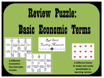 Economics Key Concepts Puzzles--Set of 2