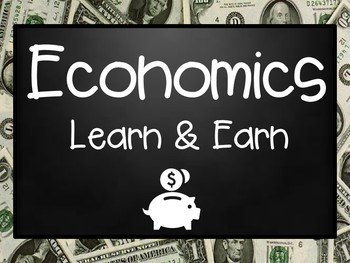 Economics Learn and Earn PowerPoint Presentation & Vocabulary Matching Game
