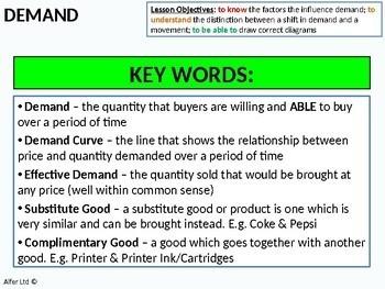 Economics: Lesson 04 - Demand 1 (factors that influence) + resources