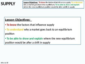 Economics: Lesson 05 - Supply (Factors that influence supply) + Resources
