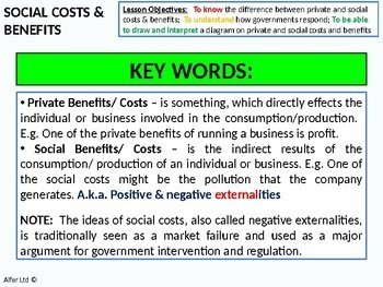 Economics: Lesson 10 - Social Costs and Benefits (Negative Externalities)