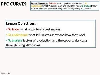 Economics: Lesson 17 - Production Possibility Frontiers / Curves (+ worksheet)