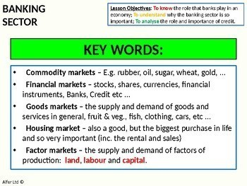 Economics: Lesson 20 - Functions of a Bank (banking terminology)