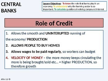 Economics: Lesson 21 - Functions of a Central Bank & Interest Rates