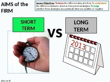 Economics: Lesson 30 - Aims of a Firm, Average Costs and the Break Even Point