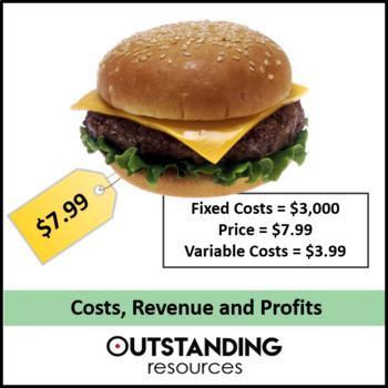 Economics: Lesson 31 - Costs, Revenue and Profit with Break Even Point