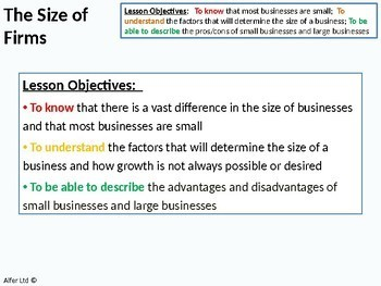 Economics: Lesson 33 - The size of Firms / Companies and Economies of Scale