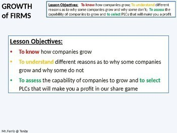 Economics: Lesson 34 - The Growth of Firms, Mergers, Takeovers and Integration