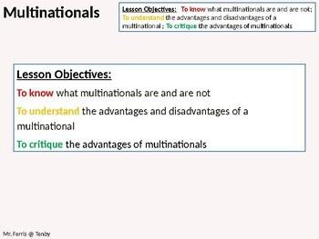 Economics: Lesson 36 - Multinationals (multinational companies)