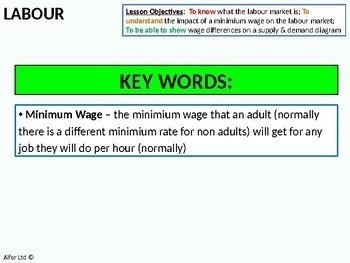 Economics: Lesson 44 - Labour: wage differences (minimum / min wage)