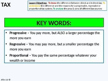 Economics: Lesson 49 - Marginal and Average Tax and Different Tax Systems