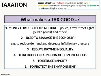 Economics: Lesson 50 - What makes a Good Tax / Tax System and the Tax Burden