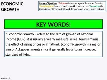 Economics: Lesson 61 - Economic Growth (Positives) + Resources