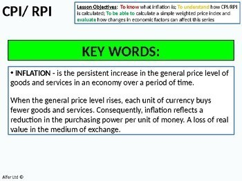 Economics: Lesson 65 - How Inflation is Measured or Calculated (RPI / CPI)