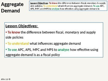 Economics: Lesson 70 - Aggregate Demand (APC / APS)