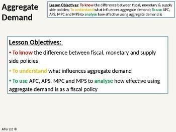 Economics: Lesson 70 - Aggregate Demand (APC / APS)