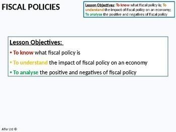 Economics: Lesson 71 - Fiscal Policies