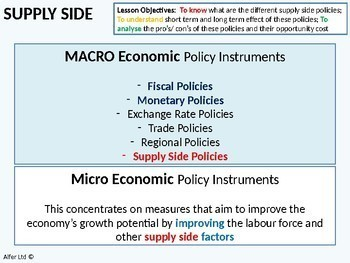 Economics: Lesson 74 - Supply side policies