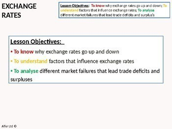 Economics: Lesson 79 - Floating Exchange Rates (Lesson One) + Resources