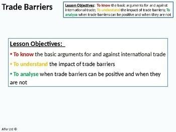 Economics: Lesson 85 - Trade (Tariff) Barriers