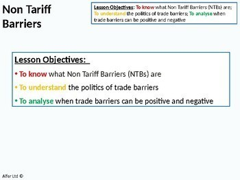Economics: Lesson 86 - Non Tariff Barriers & Game Theory