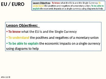 Economics: Lesson 88 - The EU, Eurozone, Single Currency and The Euro