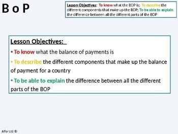 Economics: Lesson 90 - Balance of Payments (current and capital account)
