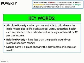 Economics: Lesson 95 - Poverty and its Measures (Lorenz Curve) + Resources