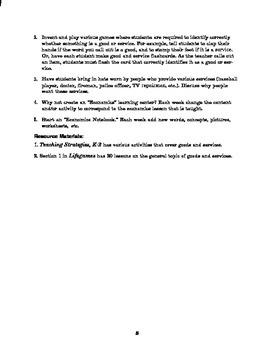 Economics Lesson Plan: Goods & Services