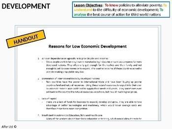 Economics: Lessons 96/97 - Economic Development and FDI (+ resources)