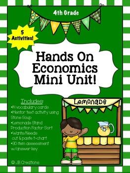 Economics Mini Unit for 3rd, 4th, and 5th grades!