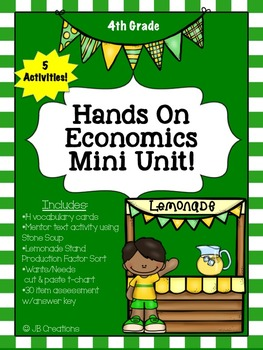 Economics Mini Unit for 3rd, 4th, and 5th grades!