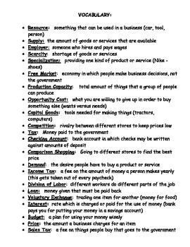 Economics Modified Study Guide