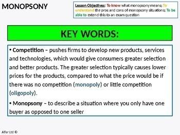 Economics: Monopsony (+ Resources)