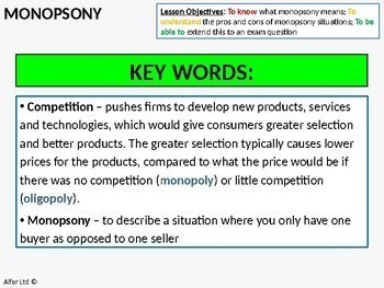 Economics: Monopsony (+ Resources)