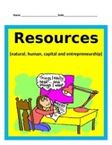 Economics Part 1: Natural, Human, and Capital Resources BUNDLE -SS