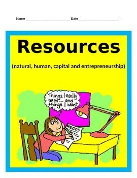 Economics Part 1: Natural, Human, and Capital Resources BUNDLE -SS