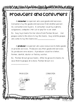 Economics Notes - Goods and Services, Producers and Consumers