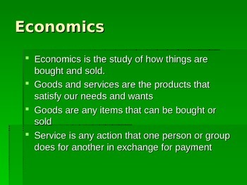 Economics Notes PowerPoint