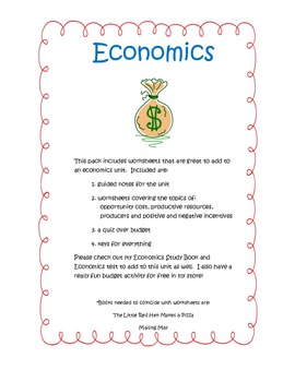 Economics Notes and Printables