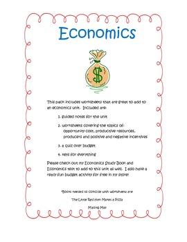 Economics Notes and Printables