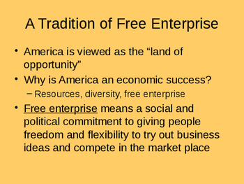 Economics PPT - The American Free Enterprise System