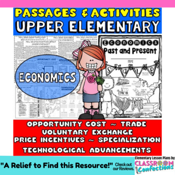 Economics: Passages with Related Activities [Opportunity Cost, Trade, MORE!]