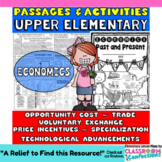 Economics Unit: 6 economics passages: Activities (Opportunity Cost, Trade, MORE)