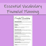 Economics & Personal Finance Essential Vocabulary: Financial Planning