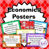 Economics Posters- Needs, Wants, Producers, Consumers- Great for HASS!