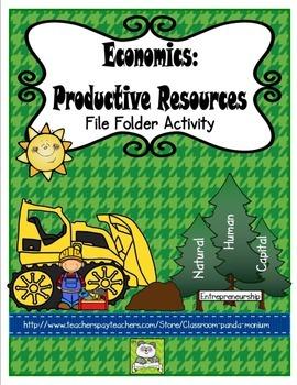 Economics: Productive Resources File Folder Activity