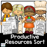 Economics:  Productive Resources Sort and flip book