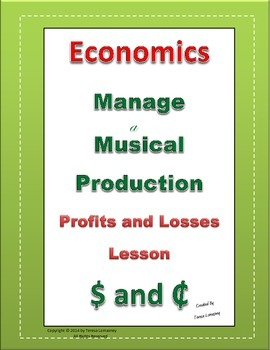 Economics Profits and Losses Manage a Musical Production G